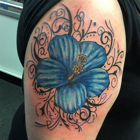 blue flower tattoo designs blue flower tattoos
