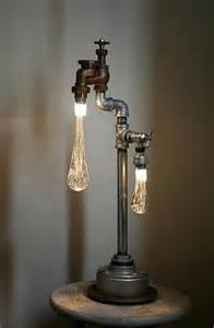 cool light fixtures amazing l made from an old tap water light crafts pinterest industrial unique and taps