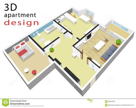 isometric floor plan 3d isometric floor plan for apartment vector illustration