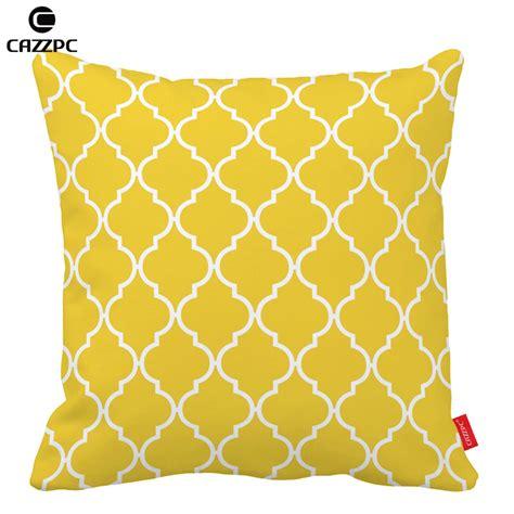 Bantal Sofa Yellow 40x40cm aliexpress buy freesia yellow quatrefoil geometric decorative pillowcases cushion cover