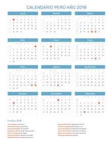 Calendario 2018 Peru Calendario Per 250 A 241 O 2018 Feriados