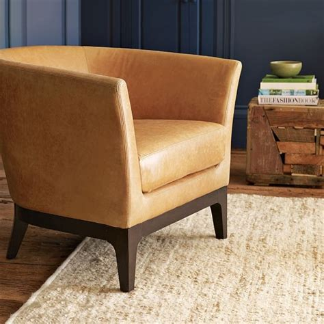 West Elm Armchair by Tulip Leather Chair Modern Armchairs And Accent Chairs