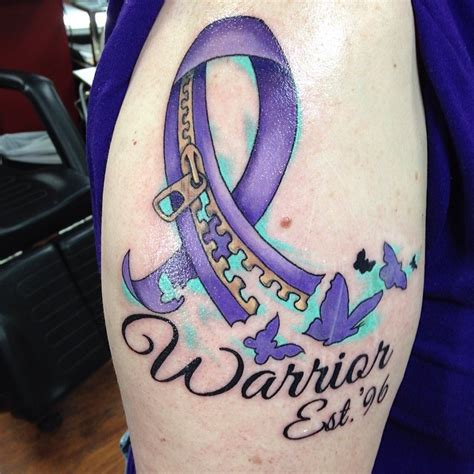 130 inspiring breast cancer ribbon tattoos 2017