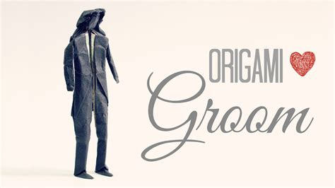 Origami Groom - how to make an origami groom wedding tadashi mori