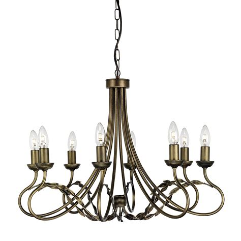 Olivia 8 Light Chandelier Black Gold 8 Light Chandelier