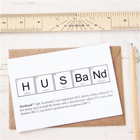 cards husband periodic table husband anniversary card birthday