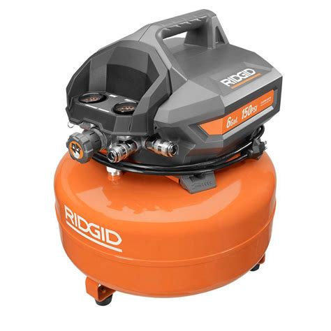 ridgid 6 gal portable electric pancake compressor of60150ha the home depot