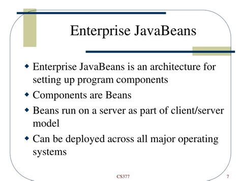 enterprise javabeans ppt application server lecture powerpoint presentation