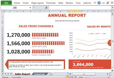 sle of annual report of a company sales report infographic template for excel 2013