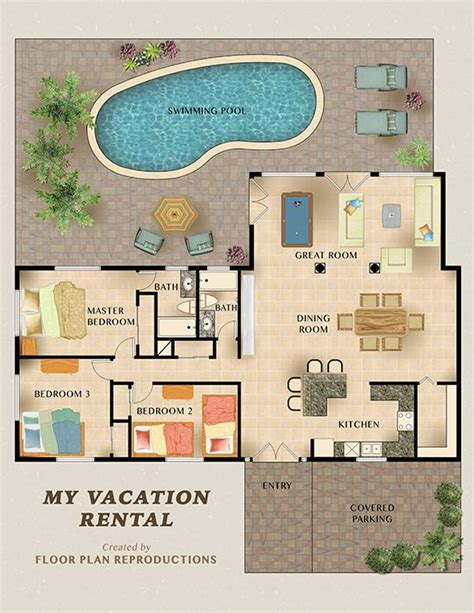 vacation rental house plans 11 best vacation rental marketing floor plans images on