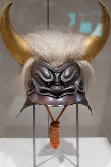 file extraordinary helmet in the shape of an oni demon