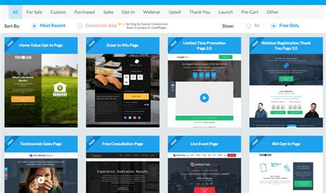 leadpages templates leadpages review easy landing pages for entrepreneurs