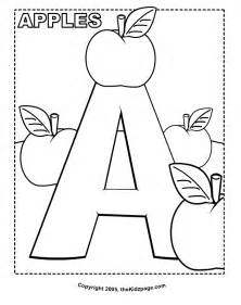 alphabet coloring books a is for apples free coloring pages for printable