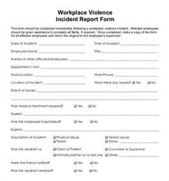 workplace incident report template 18 incident report templates free sle exle