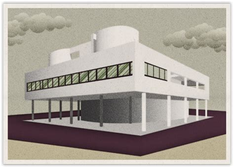 visualize villa savoye on behance villa savoye by le corbusier on behance