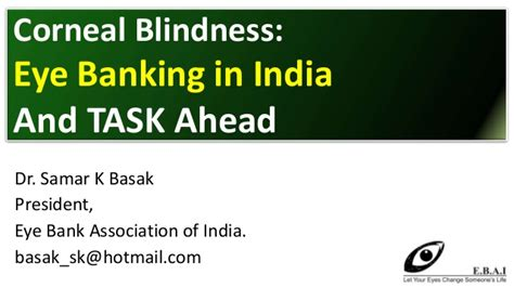 eye bank association corneal blindness eye banking in india and task ahead