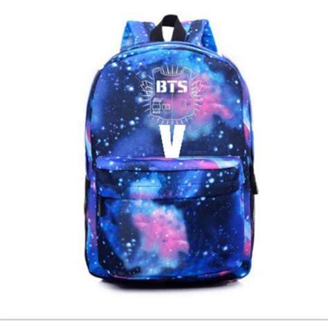 Backpack Btskpop kpop bts wings backpack bangtan boys jimin schoolbag sky bag j jung kook