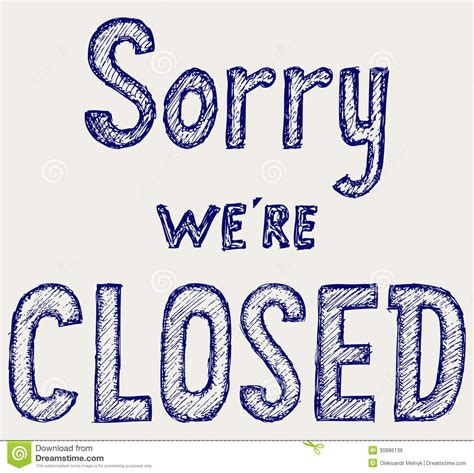 vector doodle sign closed sign royalty free stock image image 30886136