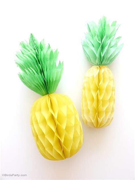 Pineapple Decorations by Diy Pineapple Honeycomb Decorations Ideas