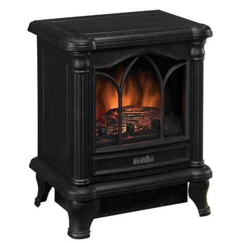 Electric Fireplace Not Heating by Black Freestanding Electric Stove Style Fireplace Space Heater Ebay
