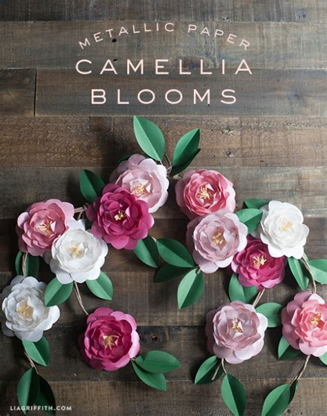 paper camellia flower tutorial 51 diy paper flower tutorials how to make paper flowers