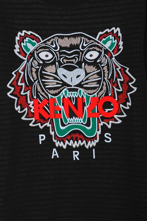 Kenzo Tiger kenzo kenzo tiger embellished sweater in black for lyst