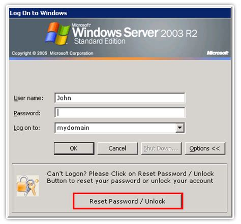 windows password reset self service self service password reset account unlock via windows