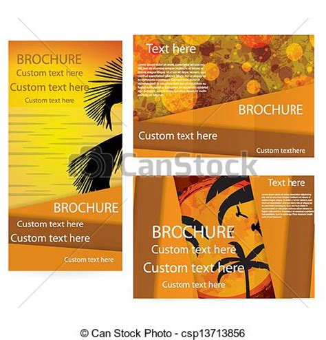 summer c brochure template free clipart vector of vector brochure layout design template