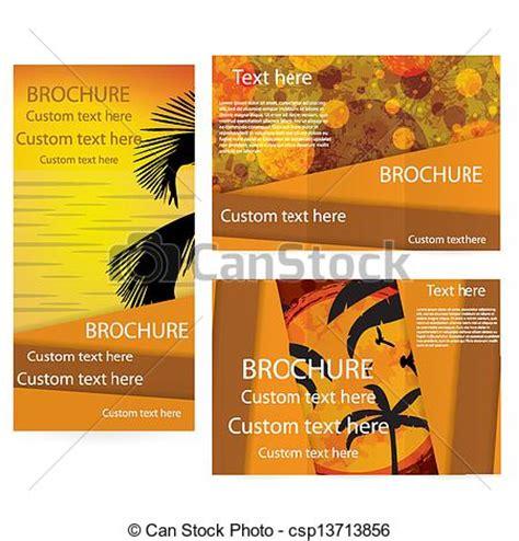 templates brochure summer c clipart vector of vector brochure layout design template