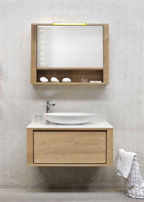 Wooden Bathroom Vanity Units Oak Shadow Single Vanity Unit By Ethnicraft