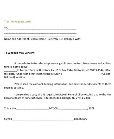 Transfer Request Letter Letter Format 39 Free Word Pdf Documents Free Premium Templates