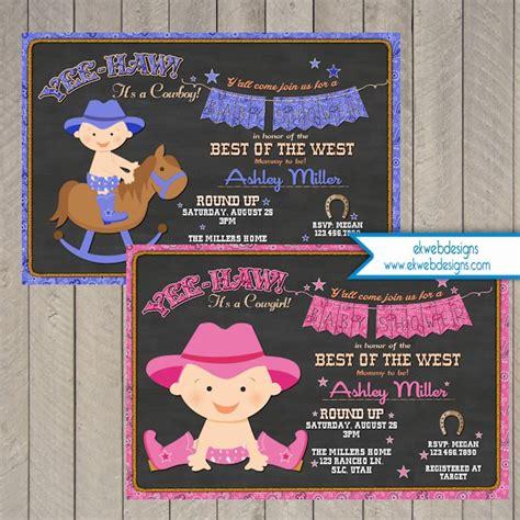 Baby Shower Western Invitations by Cowboy Baby Shower Invitation Baby Shower