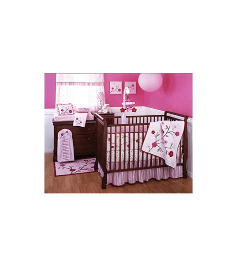 cherry blossom crib bedding kidsline cherry blossom 6 piece crib bedding set