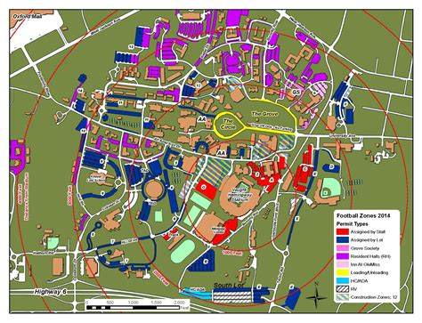 ole miss cus map more gameday parking spaces coming for football ole miss rebels official athletic site ole