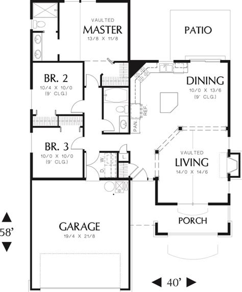 craftsman plan 1 946 square feet 3 bedrooms 2 bathrooms 009 00072 craftsman style house plan 3 beds 2 baths 1275 sq ft