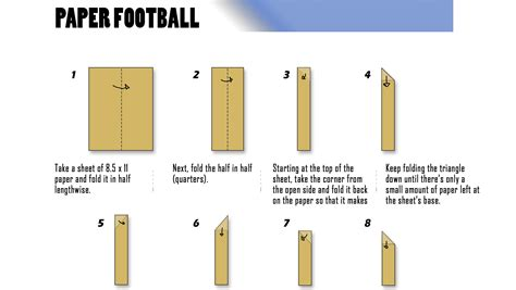 How Make A Paper Football - school for your bowl