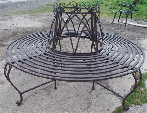 round bench seat garden tree bench seat round steel antique brown walsall