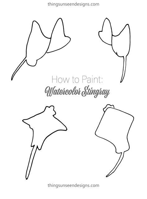 instagram outline tutorial watercolor stingray tutorial free stingray template