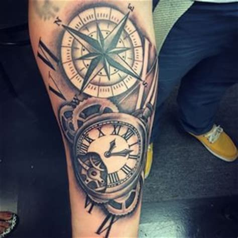 compass tattoo with gears 14 best images about tattoo klok on pinterest time