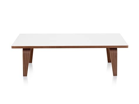 white rectangle coffee table eames rectangular coffee table accent table herman miller