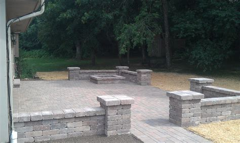 Paver Patio With Retaining Wall Grading Landscaping Paver Patios Retaining Walls And Yard Drainage By Bob S Grading Inc