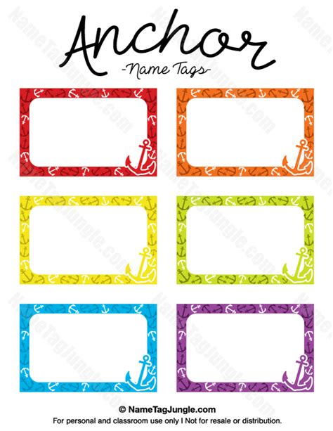 printable name labels free printable anchor name tags the template can also be