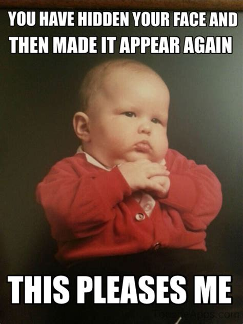 Child Meme - mob baby sends his regards the humorous