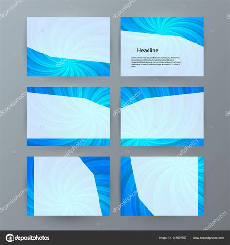 presentation template set for powerpoint background blue15
