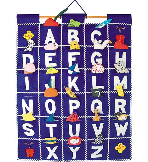 My Alphabet Foodie Wall Hang abc wall hanging blue by pockets of learning