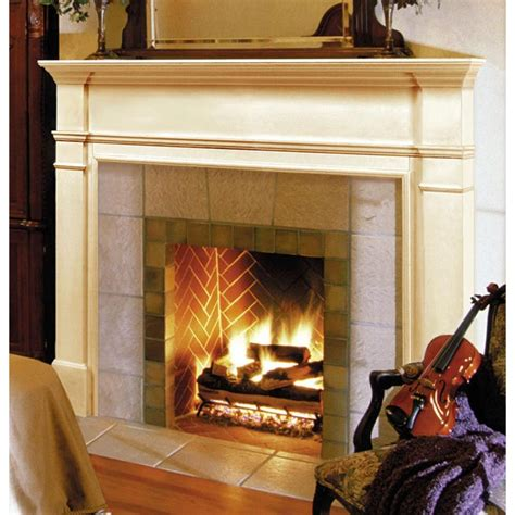 Unfinished Fireplace Surrounds by Pearl Mantels 56 Quot The Fireplace Mantel Unfinished 120 56