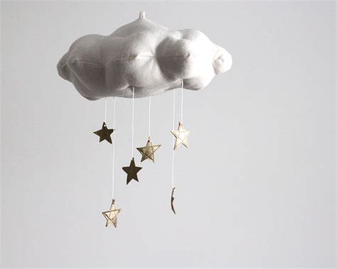 cloud mobile clouds sun and moon celestial nursery motifs