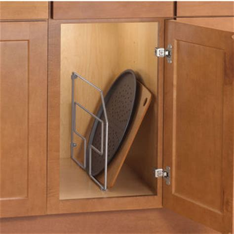 kitchen cabinet tray dividers tray organizers divide your cookie sheets pots and pans