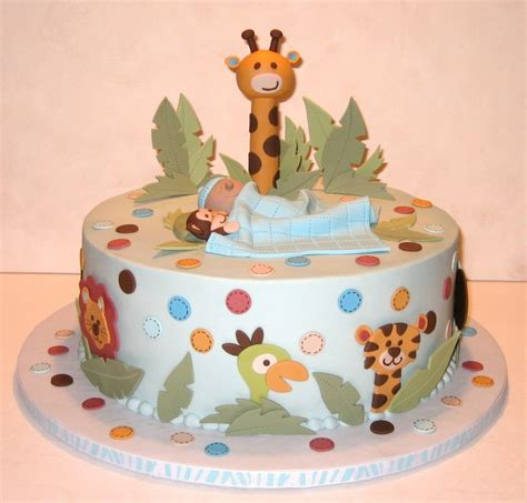 Baby Shower Cake Ideas by Jungle Themed Baby Shower Cake Ideas
