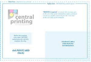 indesign postcard template 4x6 direct mail and postcard templates central printing